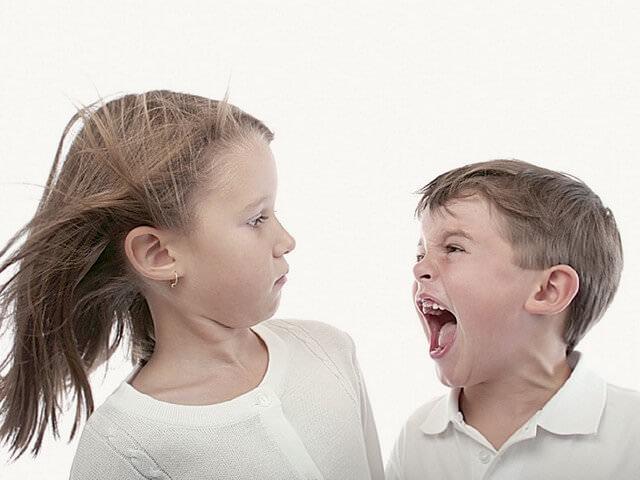 Брат ругается с сестрой