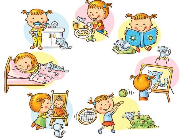 Распорядок дня для ребенка
