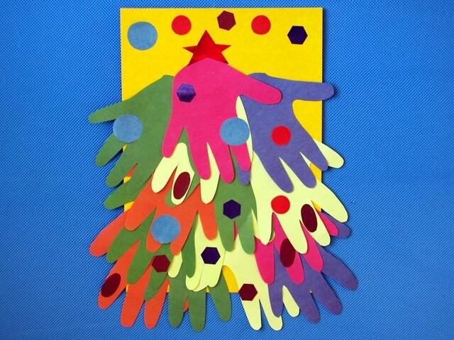 Разноцветная елочка