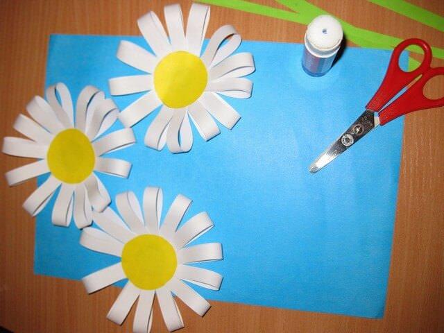 Поделки из цветной бумаги ромашки своими руками