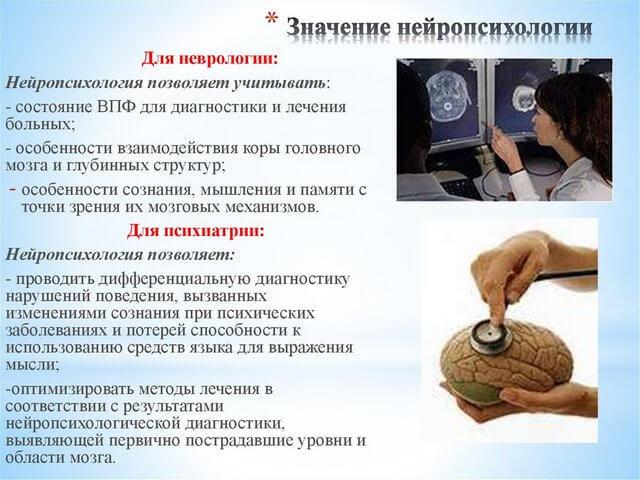 Значение нейропсихологии