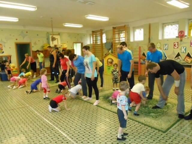 Занятия спортом с родителями