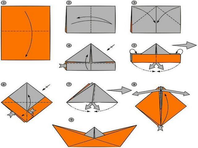 Как сделать оригами яхту