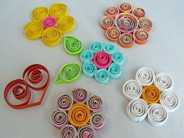 Цветки из бумаги