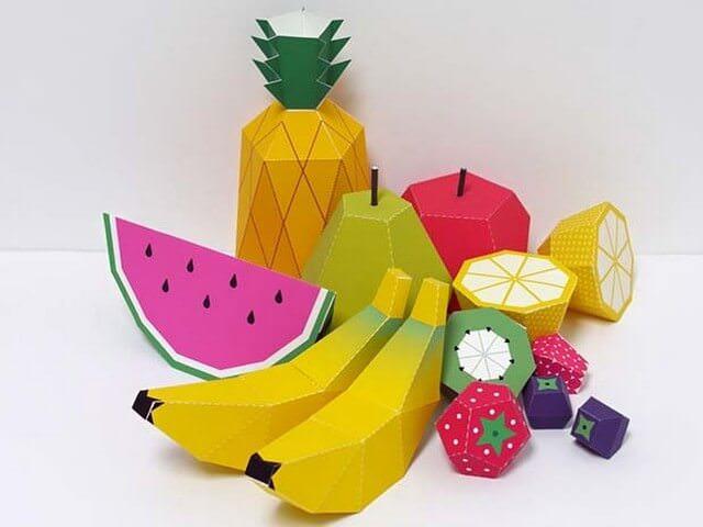 Бумажные фрукты