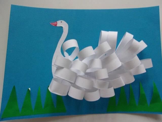 Лебедь из олосок