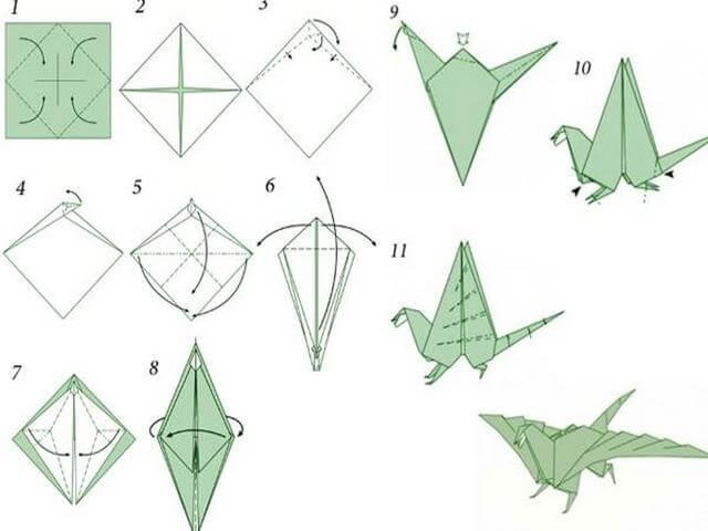 Как сделать оригами из бумаги дракона