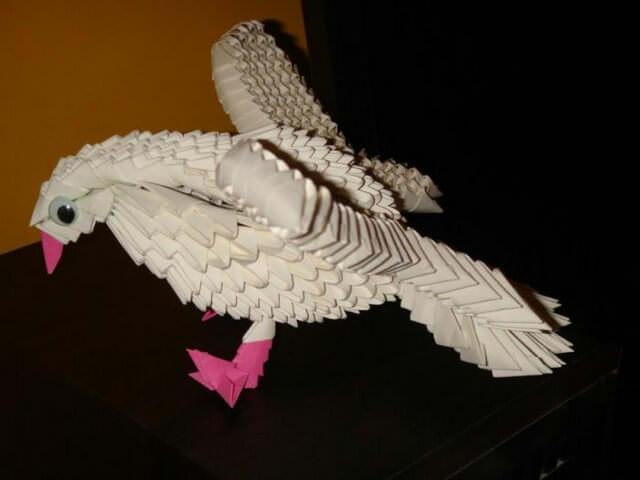 Объемный голубь