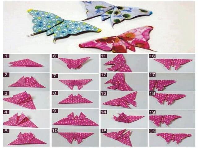 Схема изготовления бабочки