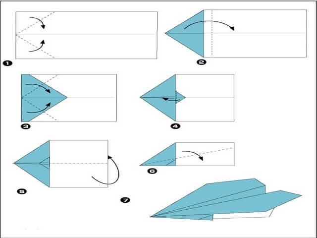 Простой самолет из бумаги