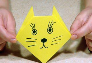 Котик из бумаги