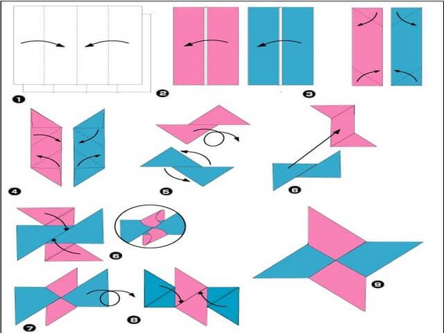 149Видео оригами сюрикен