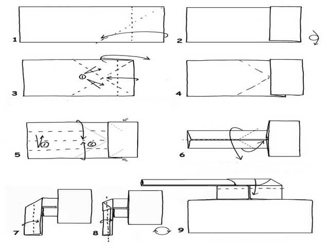 Доченьке, открытки оригами танк