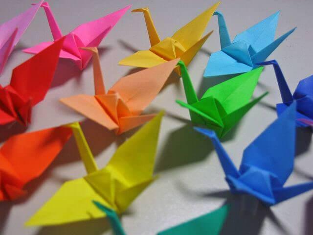 Разноцветные журавли