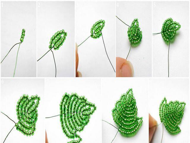 Плетение зеленых листьев к сирени