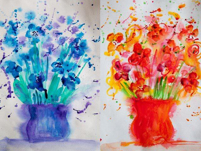 Детский рисунок цветов