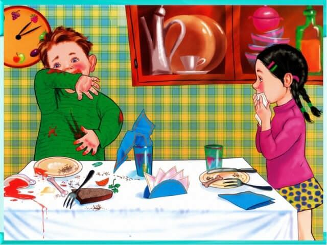 Дети отвратительно ведут себя за столом