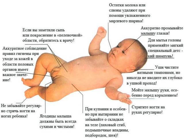 Схема мытья малыша