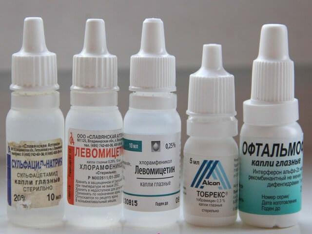 Капли от коньюктивита для детей с антибиотиком и без