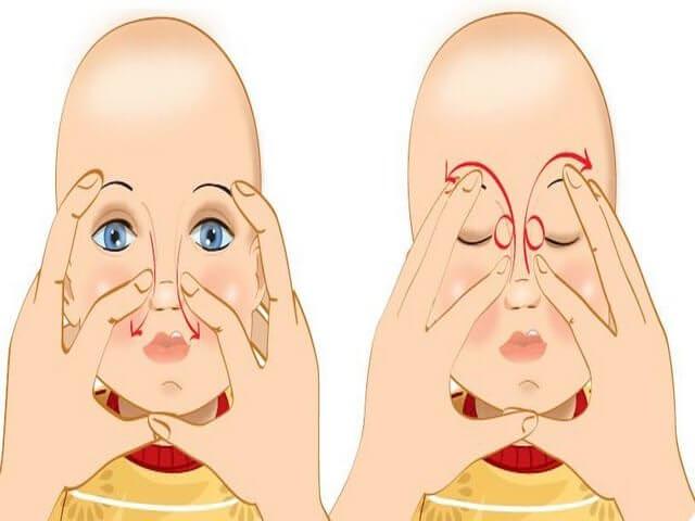 Массирование носовых пазух