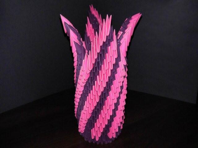 Эффектная двухцветная ваза