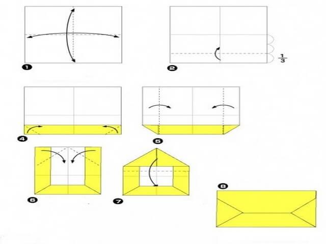 Кошелек из бумаги своими руками оригами 623