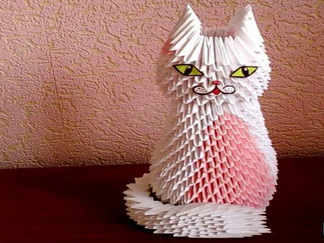 Как сделать из бумаги кота не оригами