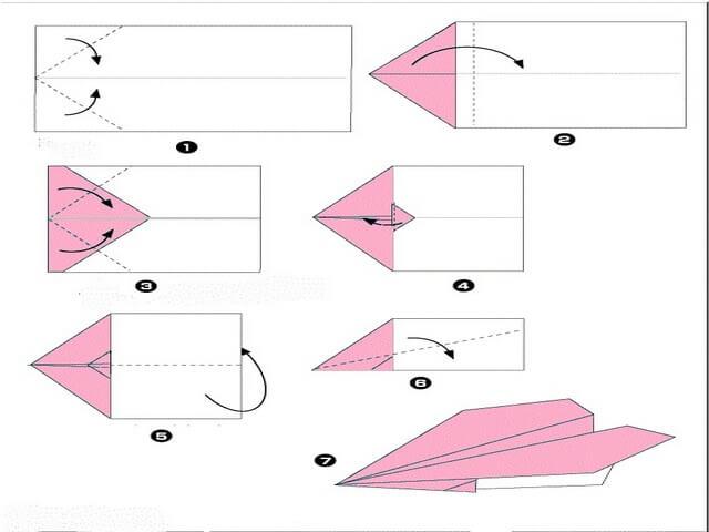 Простой вариант бумажного самолетика