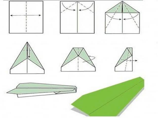Тупоносый самолет из бумаги