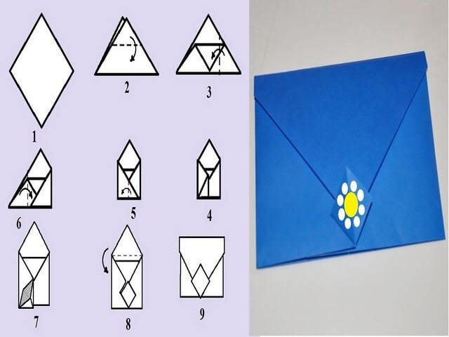 386Прямоугольный конверт из а4