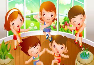 Компания детей