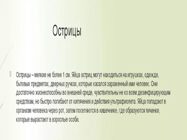 Острицы