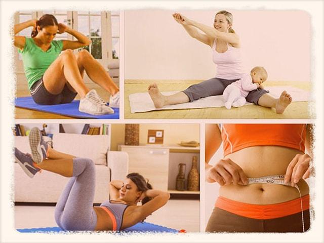 Упражнение для подтяжки живота